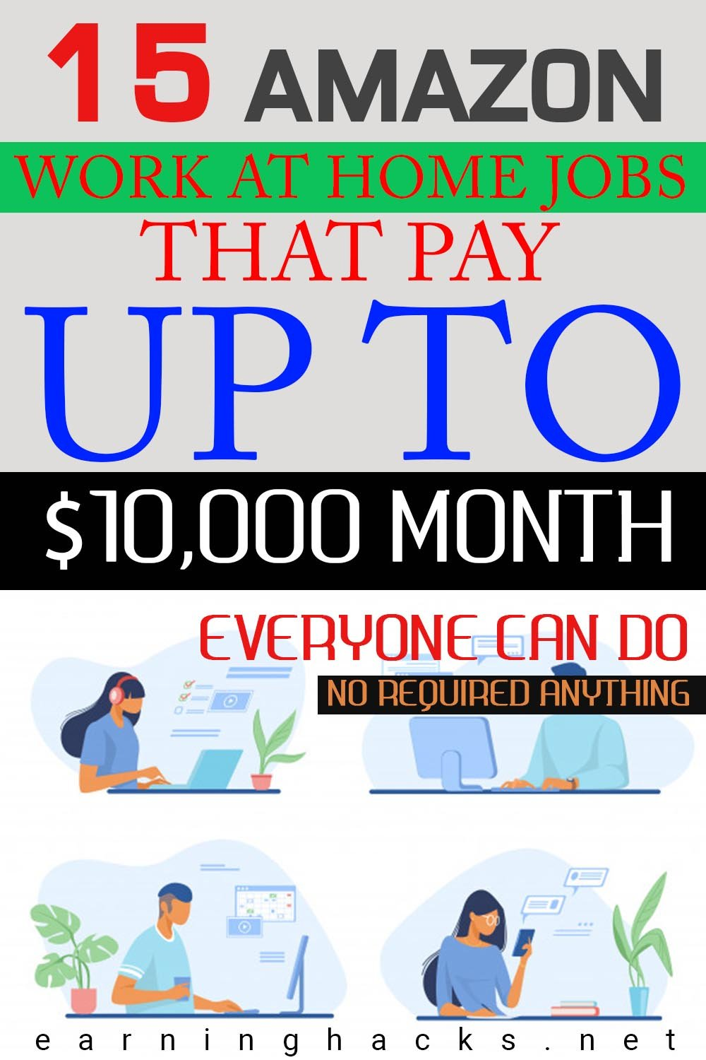 15 Amazon Work at Home Jobs That Pay Up to $10,000/Month