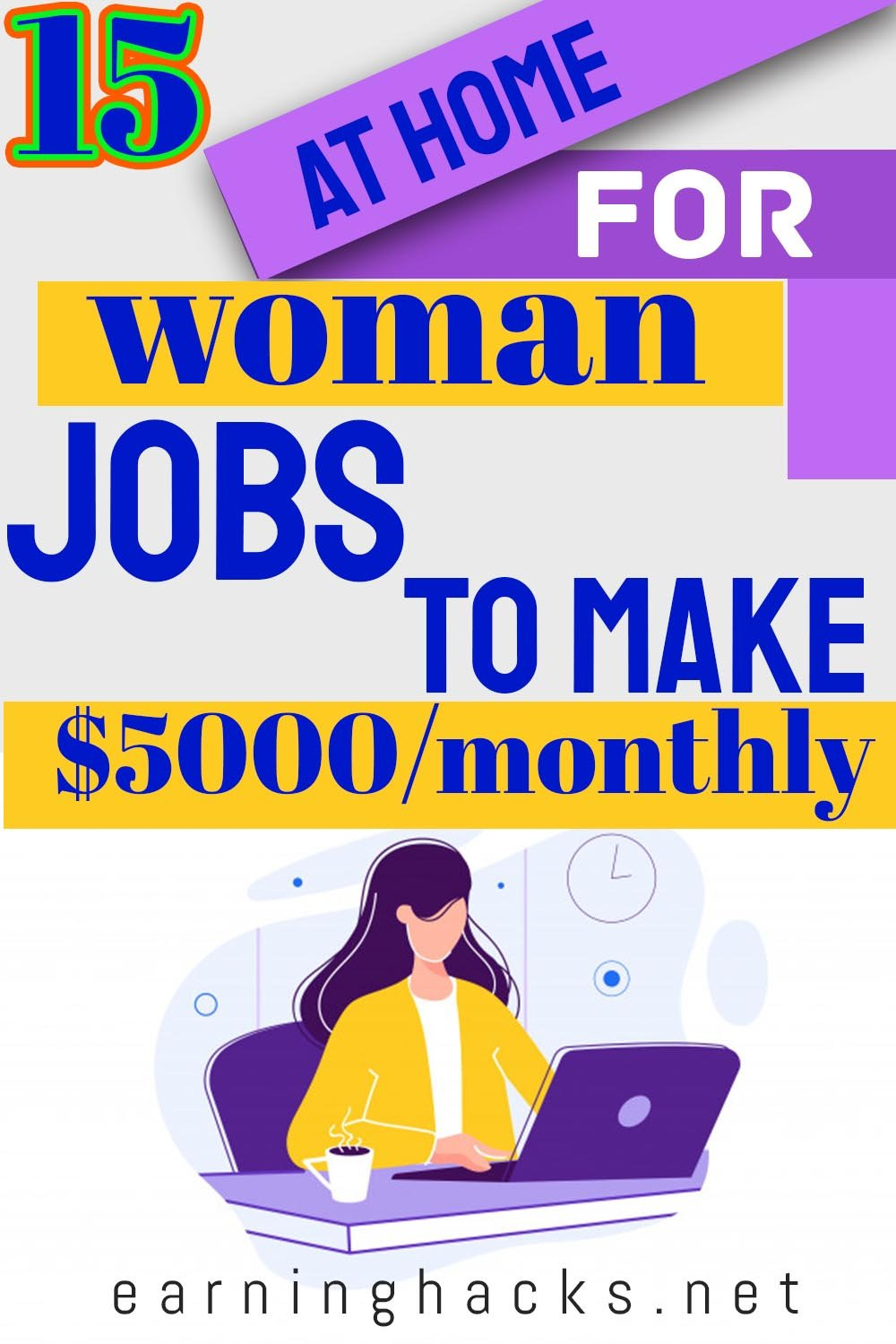 15 At Home For Woman Jobs To Make $5000 Month