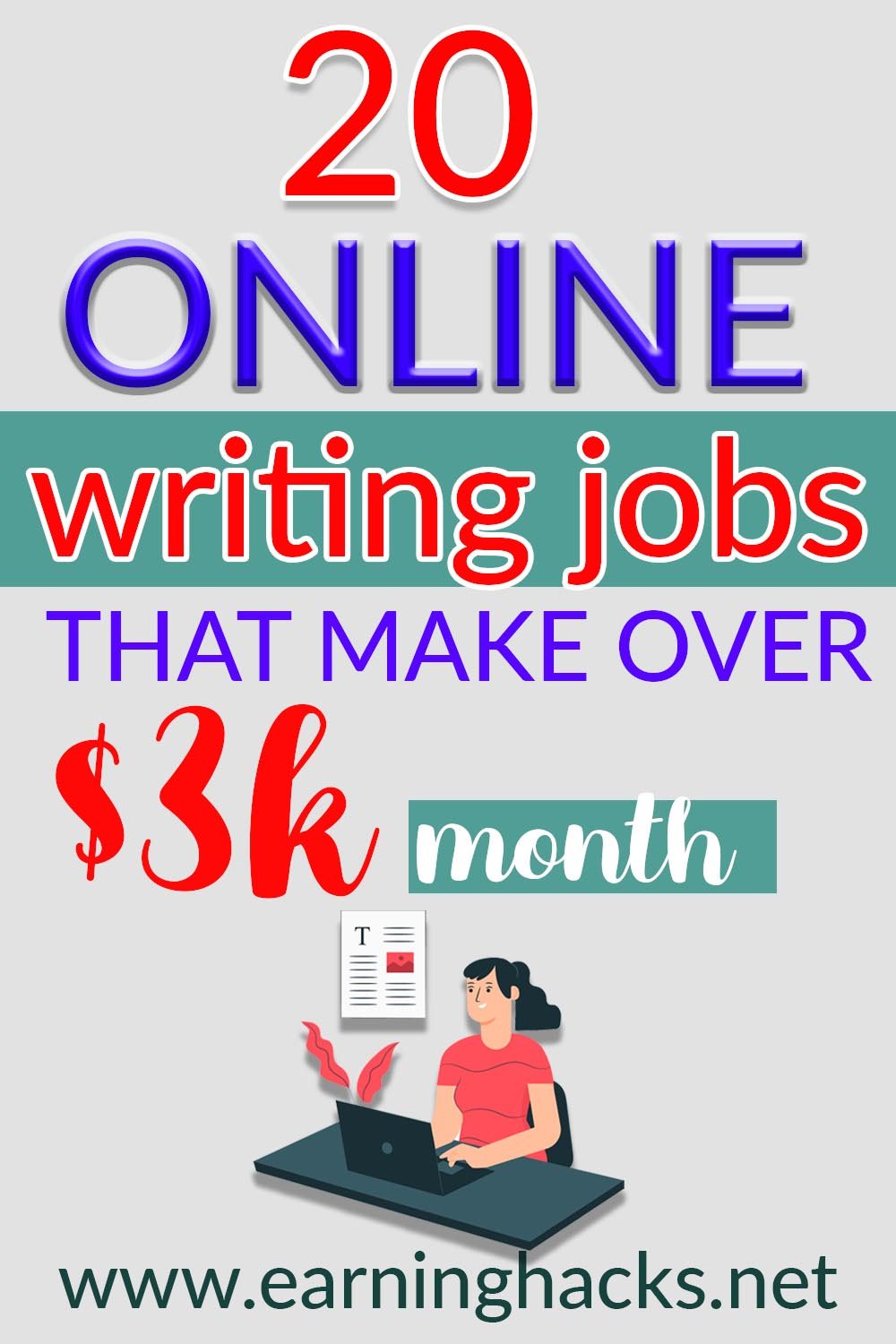 20 Online Writing Jobs That Make Over $3k month