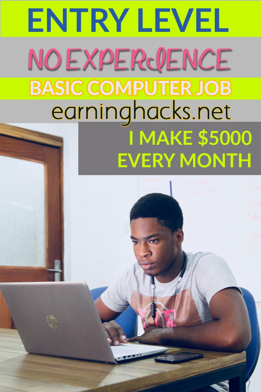 Entry level no-experience basic computer job