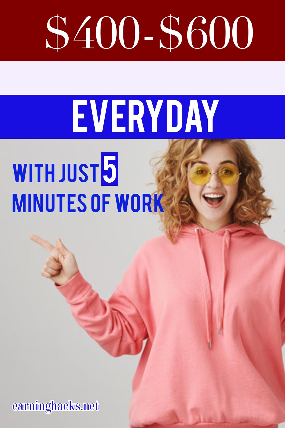 $400-$600 Everyday With Just 5 Minutes Of Work